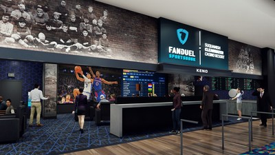 Computer Rendering of future FanDuel Sportsbook at Suquamish Clearwater Casino Resort.