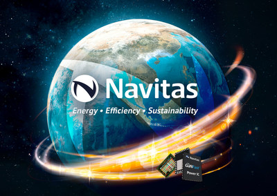 Navitas GaN power ICs to reduce the size and weight of power electronic components that are used for EV charging. (PRNewsfoto/Navitas Semiconductor)