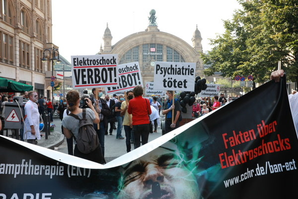 Citizens Commission on Human Rights Germany demonstrated to end ECT in the country.