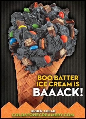 Cold Stone Creamery's Treat or Treat Creation using Boo Batter Ice Cream