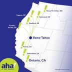 New airline – aha! – inaugurates Reno-Tahoe hub with nonstop flight to Pasco/Tri-Cities, Wash.