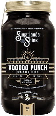 As part of its multiyear deal with the New Orleans Saints, Sugarlands Distilling Co. will produce two specialty products unique to the New Orleans market and surrounding areas. Voodoo Punch Moonshine, which commemorates 55 years of thrilling Saints football history, is made from Sugarlands' signature shine, blended with the taste of tropical fruit punch, coconut, citrus and a hint of cherry.